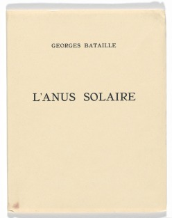 Bataille, L'Anus Solaire (book cover)