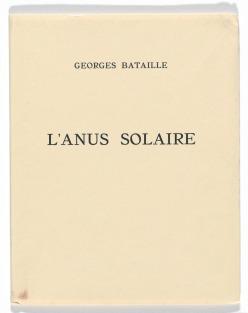 Bataille, L'Anus Solaire (book cover)